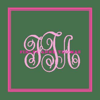 Tailored Monogram Hot Pink Enclosure Card