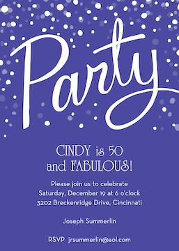 Party Purple Invitation