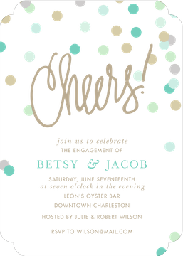 Cheers! Confetti Blue Invitation (Designed by Natalie Chang)