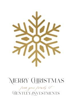 Shining Snowflake Foil Pressed Greeting Card