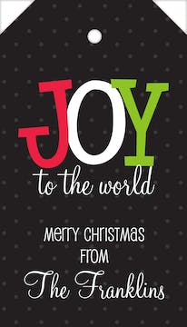 Joy To The World Hanging Gift Tag
