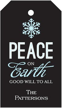 Peace On Earth Hanging Gift Tag