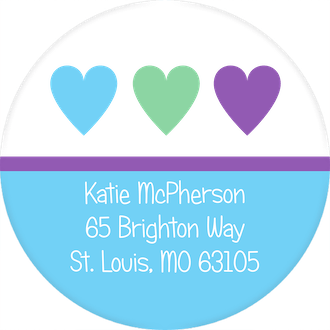 Heart You Return Address Sticker