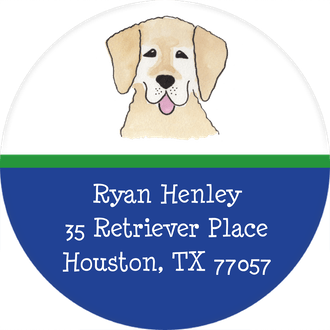 Happy Tails Return Address Sticker