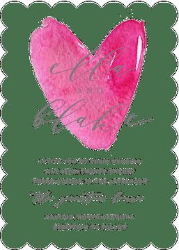 Watercolor Heart Invitation