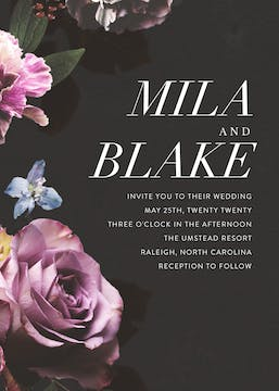 Midnight Floral Invitation