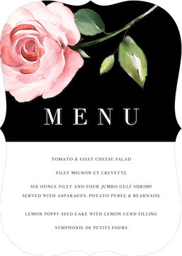 Modern Botanical Menu