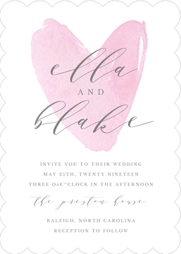 Watercolor Heart Invitation