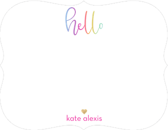 Colorful Hello Flat Note