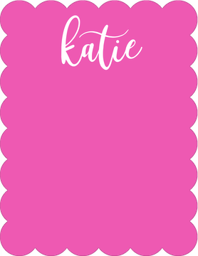 Simple Name Pink Flat Note