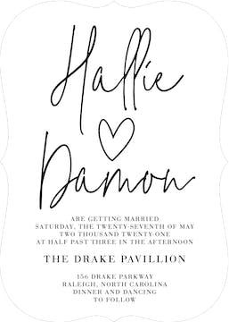 So In Love Invitation