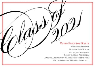 Black and Red Border Invitation
