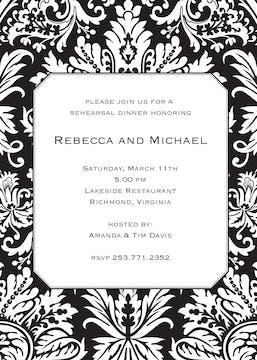 Black Damask Invitation