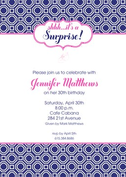 Blue Geometric Invitation