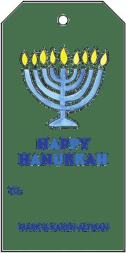 Hanukkah Hanging Gift Tag