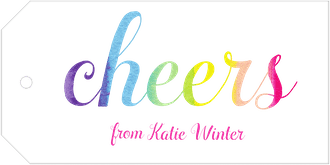 Rainbow Cheers Hanging Gift Tag
