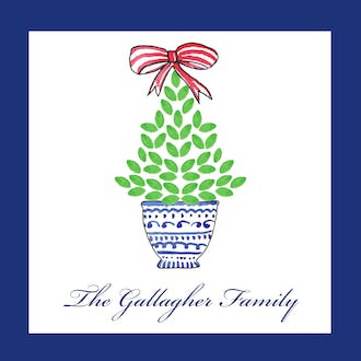 Christmas Topiary Gift Sticker