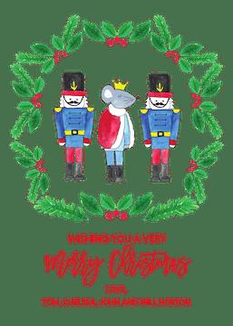 Nutcracker Holiday Greeting Card