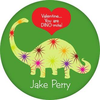 Valentine's Dinosaur Gift Sticker