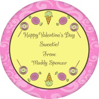 Valentine's Candy Gift Sticker