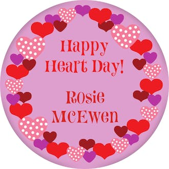 Valentine's Heart Wreath Gift Sticker