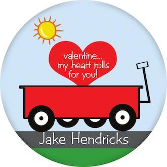 Valentine's Wagon Gift Sticker
