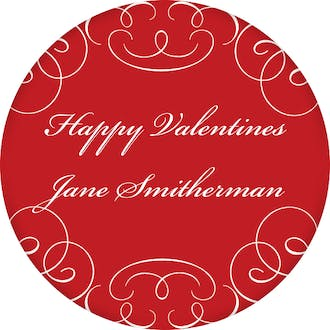 Valentine's Fancy Gift Sticker