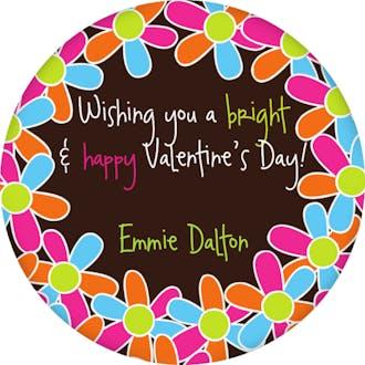 Valentine's Flowery Gift Sticker