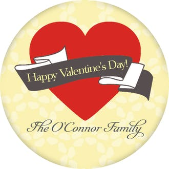 Valentine's Heart Gift Sticker
