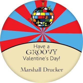Valentine's Disco Ball Gift Sticker