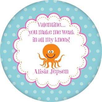 Valentine's Octopus Gift Sticker