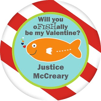 Valentine's Fish Gift Sticker