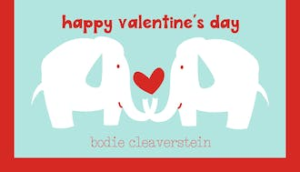 Valentine's Elephant Treat Bag and Topper