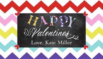 Valentine's Chevron Chalkboard Treat Bag and Topper