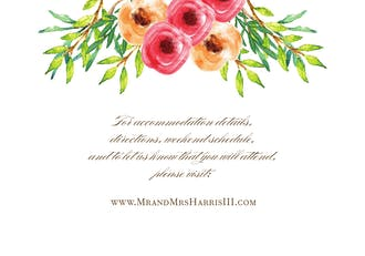 Watercolor Florals Accessory Card