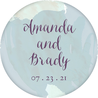 Watercolor Background Circle Gift Sticker