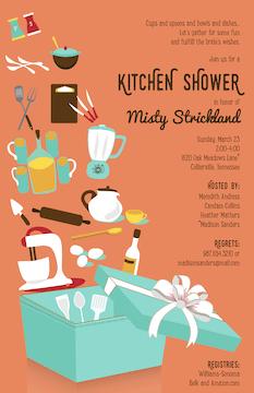Open Kitchen Gift Box Invitation