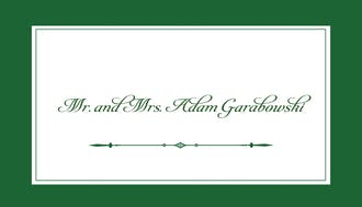 Simply Sophisticated Green Enclosure Card