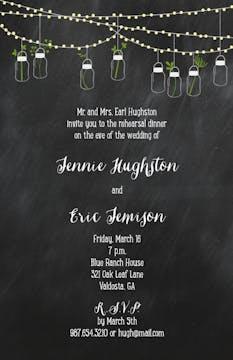 Mason Jars Invitation