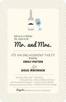 Mr. and Mrs. Wine Invitation