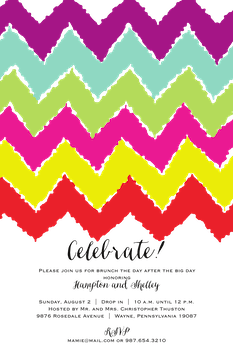 Rainbow Chevron Invitation