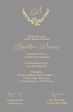Grey Initial Invitation