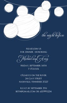 Lanterns Invitation