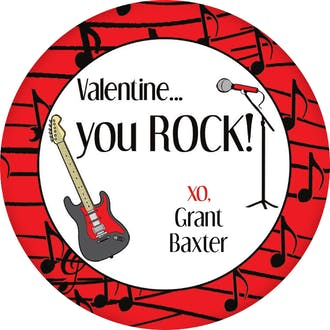 Valentine's Rock Gift Sticker