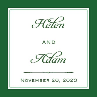 Simply Sophisticated Green Gift Sticker