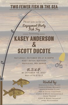 Fish In The Sea Fish Fry Invitation