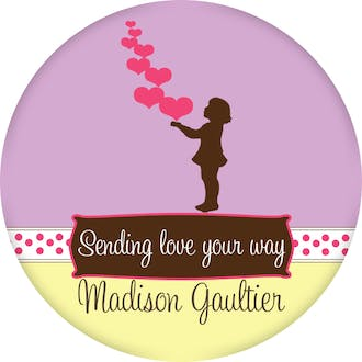 Valentine's Little Girl Silhouette Gift Sticker