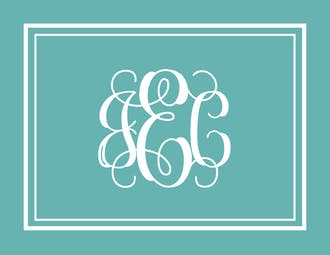 Monogrammed Folded Note