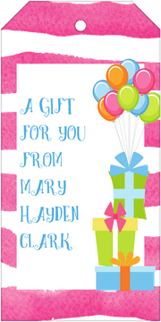Party Hanging Gift Tag