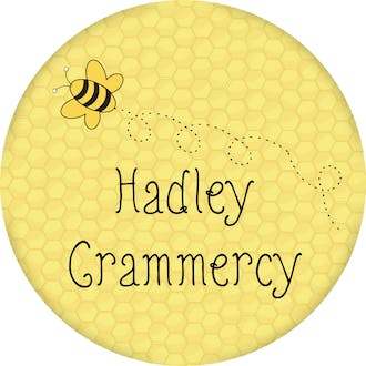 Honeycomb and Bee Round Gift Sticker
